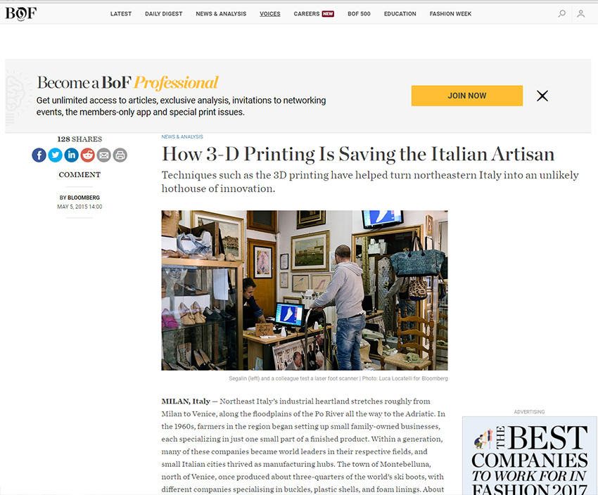 How 3-D Printing Is Saving the Italian Artisan Techniques such as the 3D printing have helped turn northeastern Italy into an unlikely hothouse of innovation.