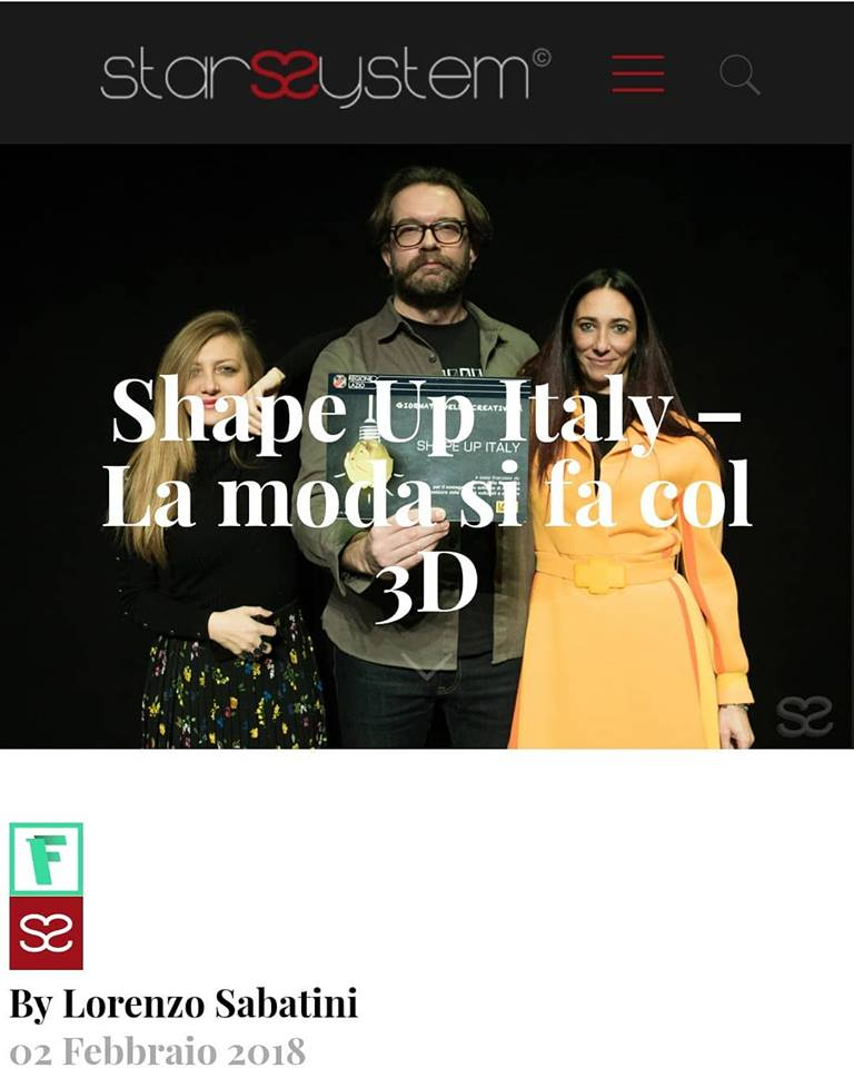 Shape Up Italy – La moda si fa col 3D
